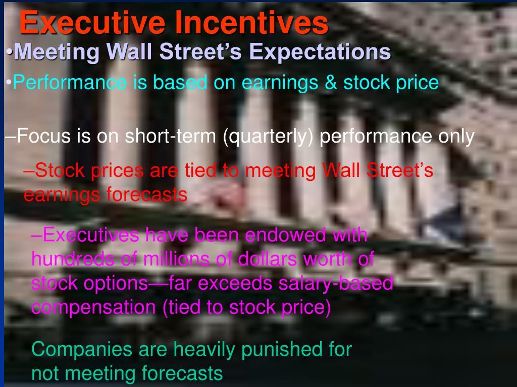 Executive Incentives
