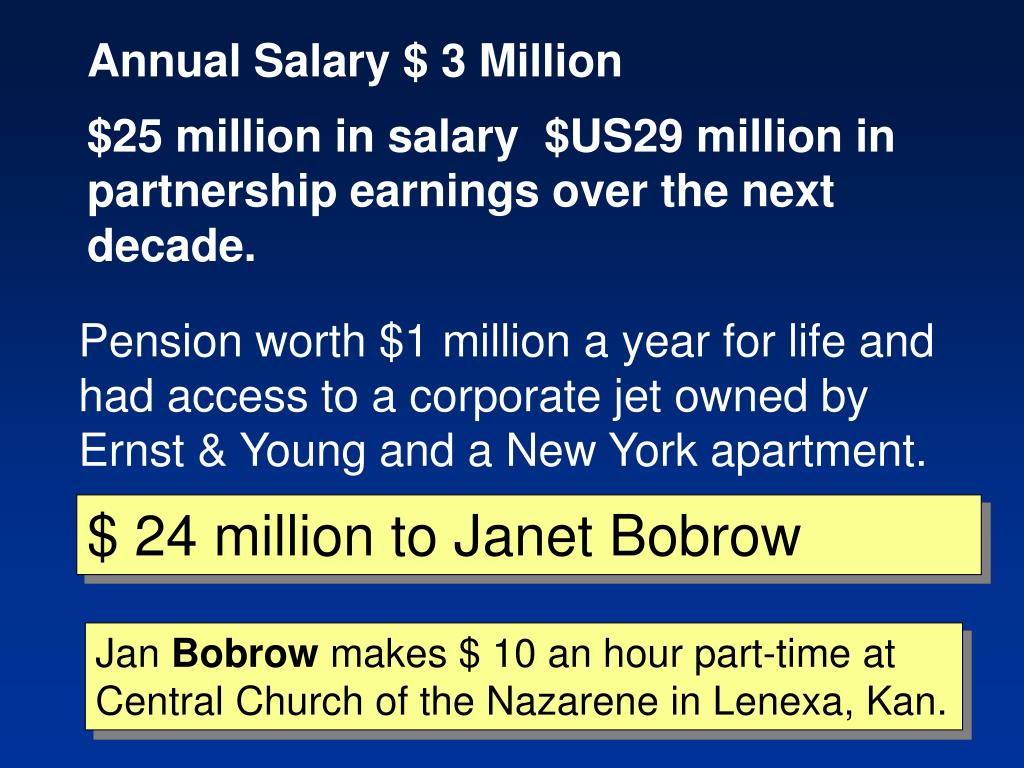 Annual Salary $ 3 Million