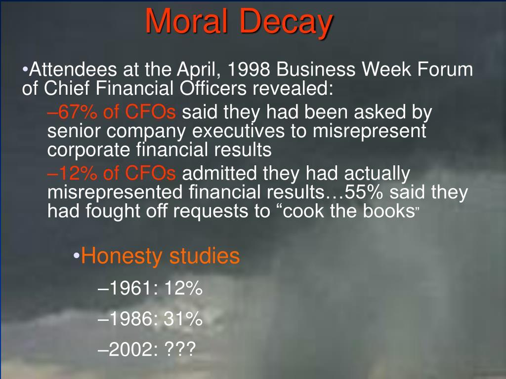 Moral Decay