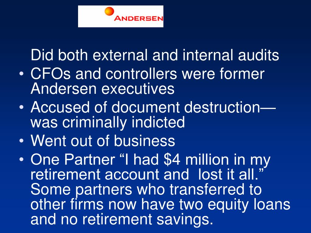 Did both external and internal audits