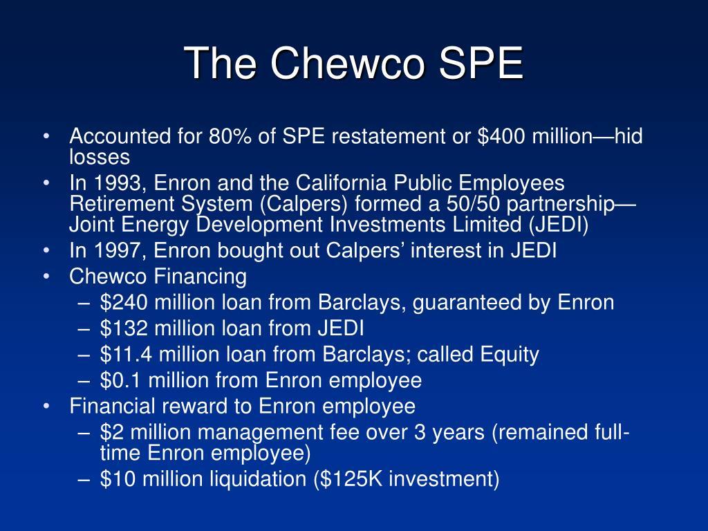 The Chewco SPE