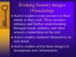 evoking sensory images visualizing