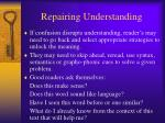 repairing understanding
