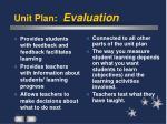 unit plan evaluation
