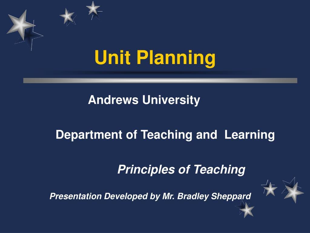 unit planning l.