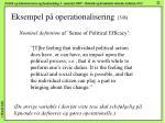 eksempel p operationalisering 3 8