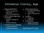 information literacy big6