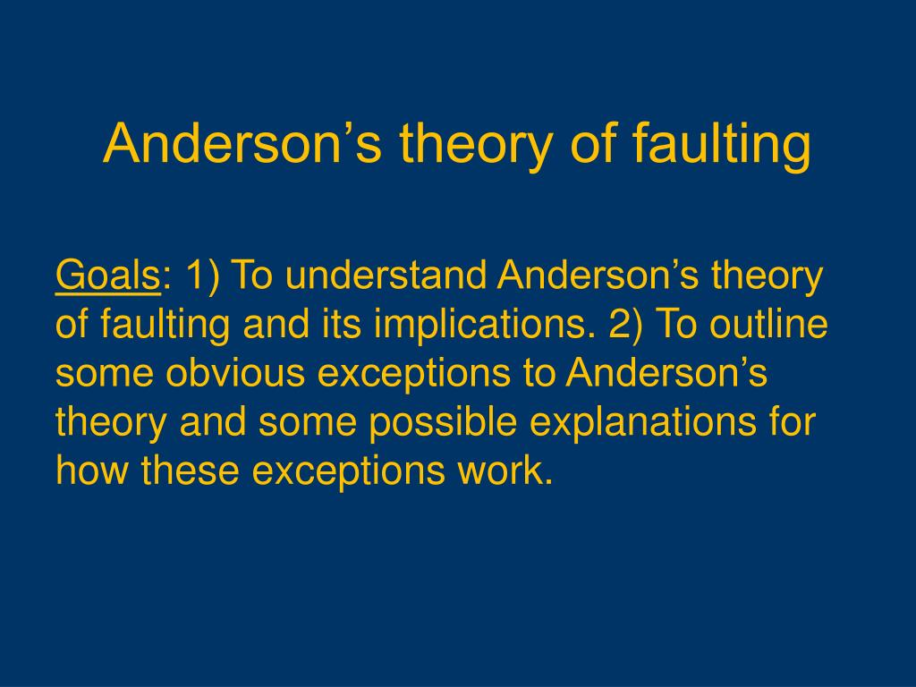 anderson s theory of faulting l.