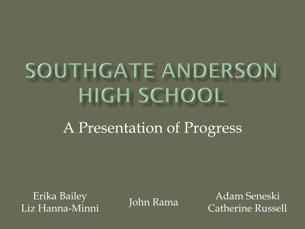 southgate anderson high school l.