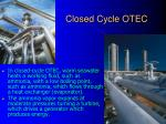 closed cycle otec