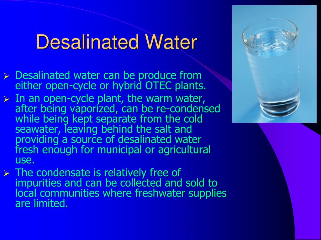 Desalinated Water