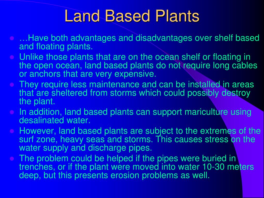 Land Based Plants