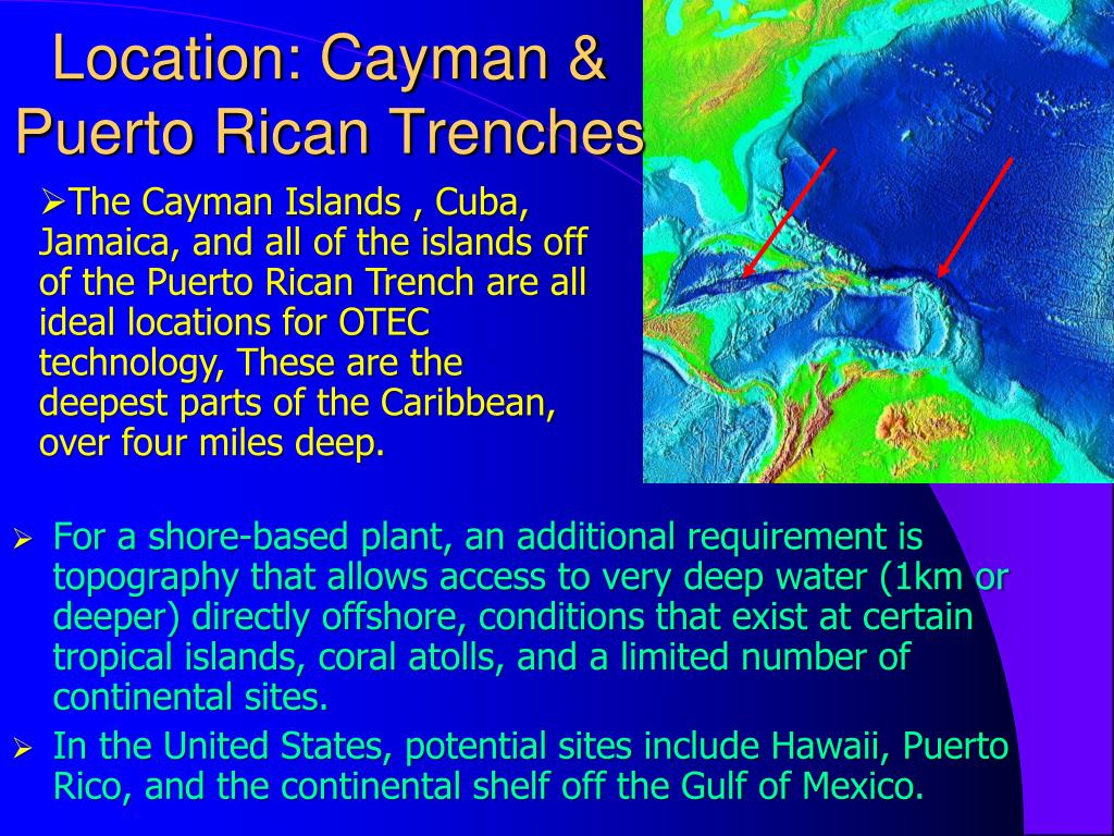 Location: Cayman & Puerto Rican Trenches