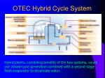 otec hybrid cycle system