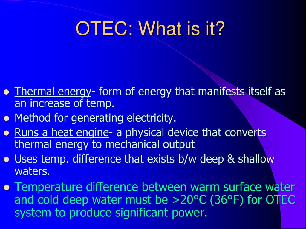 OTEC: What is it?