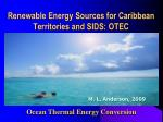 renewable energy sources for caribbean territories and sids otec
