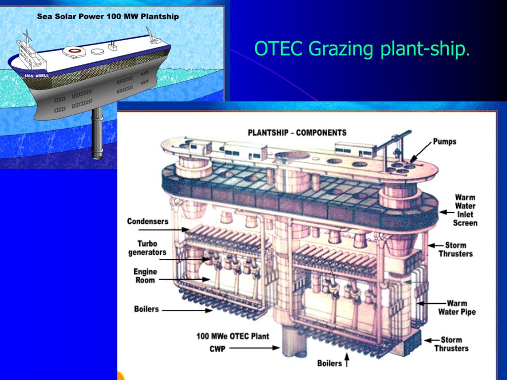 OTEC Grazing plant-ship