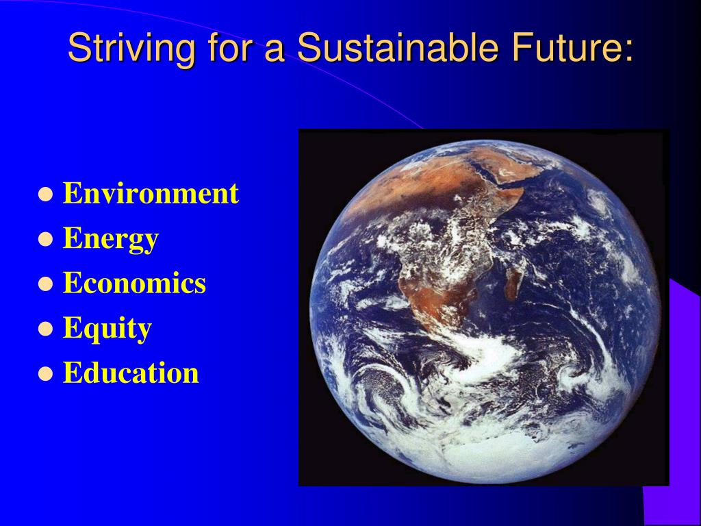 Striving for a Sustainable Future: