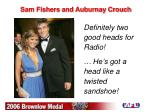 sam fishers and auburnay crouch