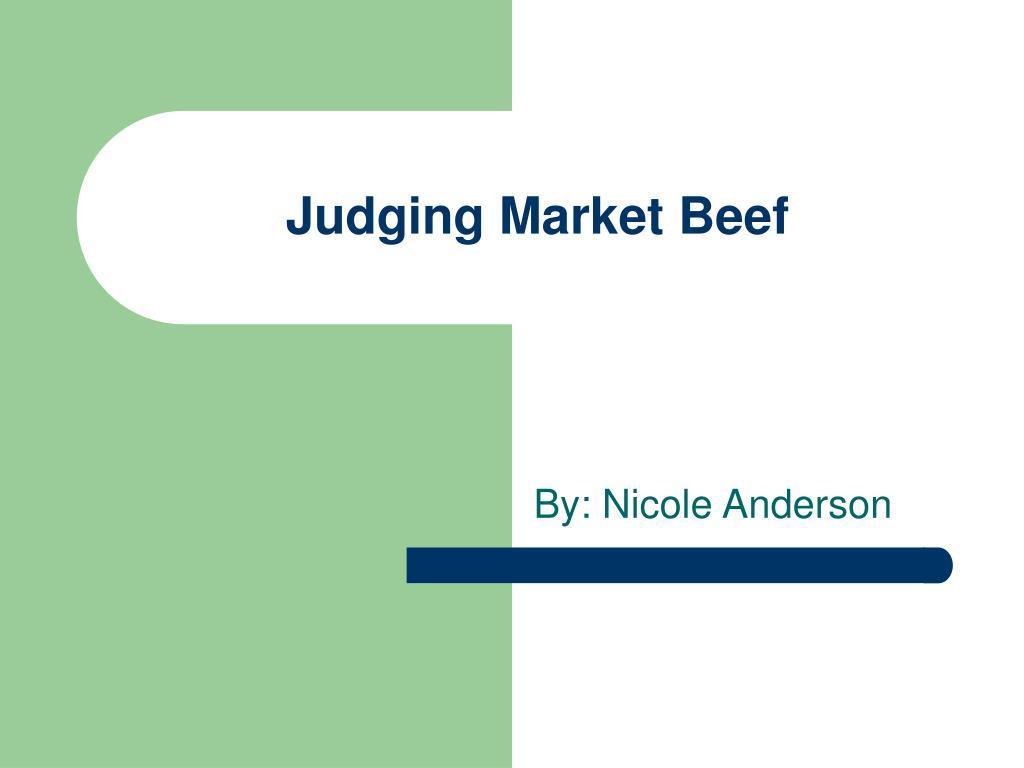 judging market beef l.