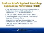 amicus briefs against teaching suggestion motivation tsm