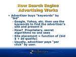 how search engine advertising works
