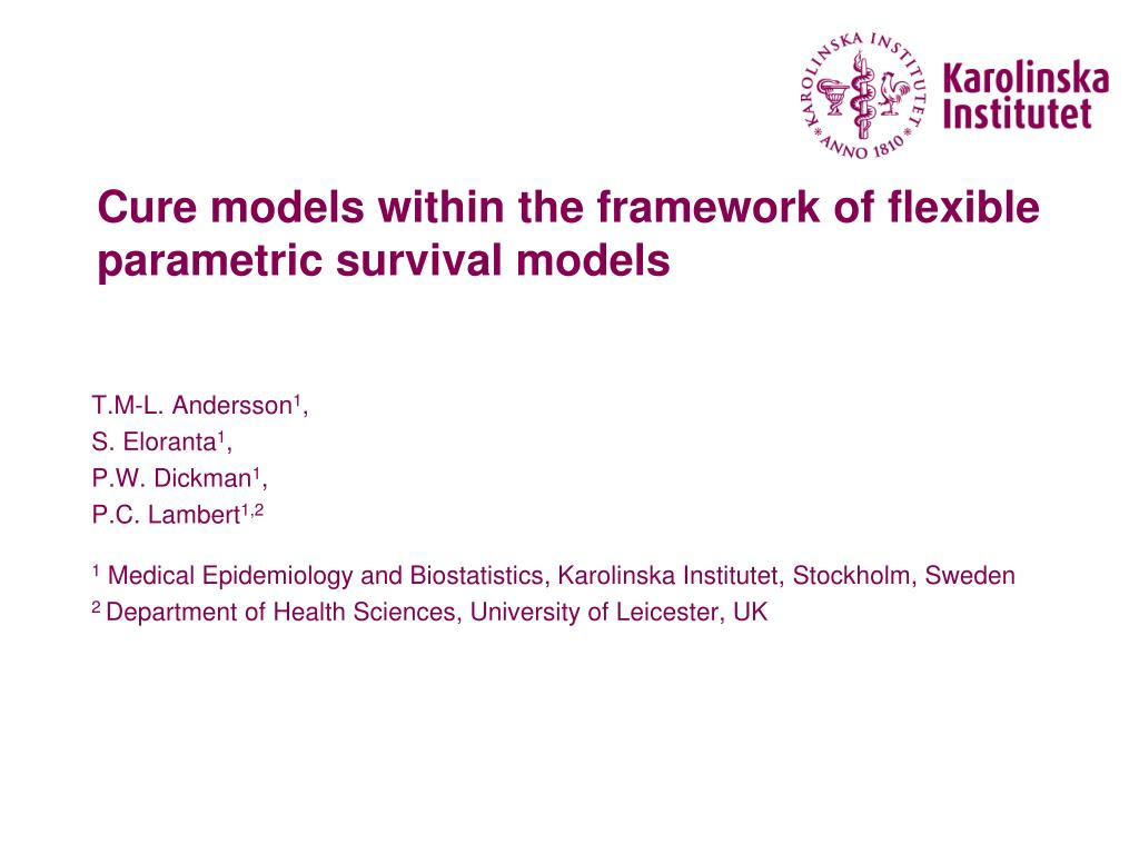 cure models within the framework of flexible parametric survival models l.