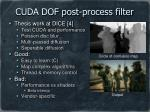 cuda dof post process filter