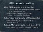 gpu occlusion culling