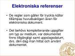 elektroniska referenser