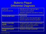 bubonic plague differential diagnosis8