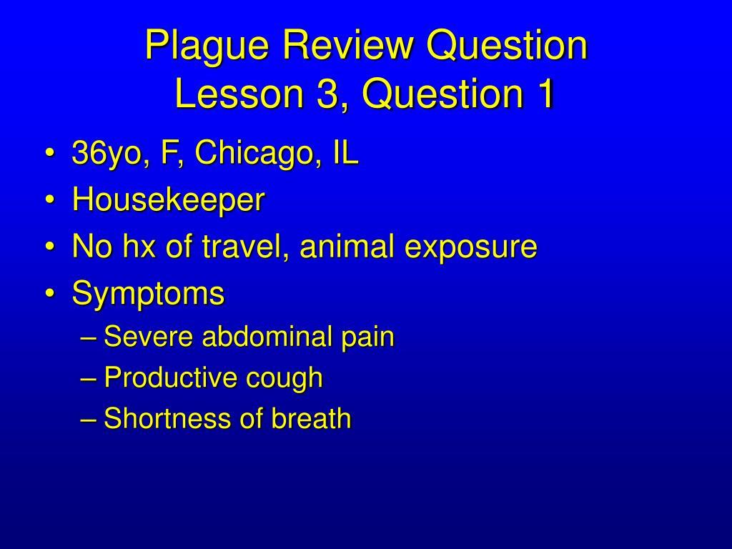 Plague Review Question