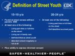definition of street youth