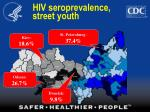 hiv seroprevalence street youth