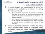 2 an lisis del proyecto soct 2 3 an lisis econ mico28