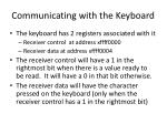 communicating with the keyboard