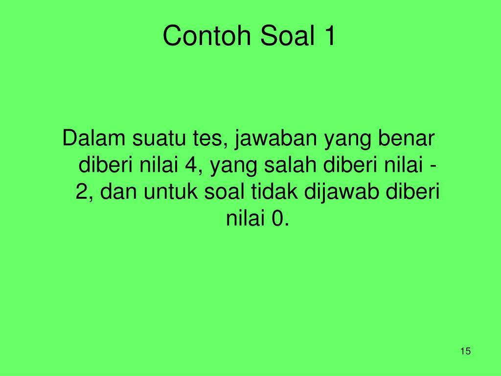 Contoh Soal 1