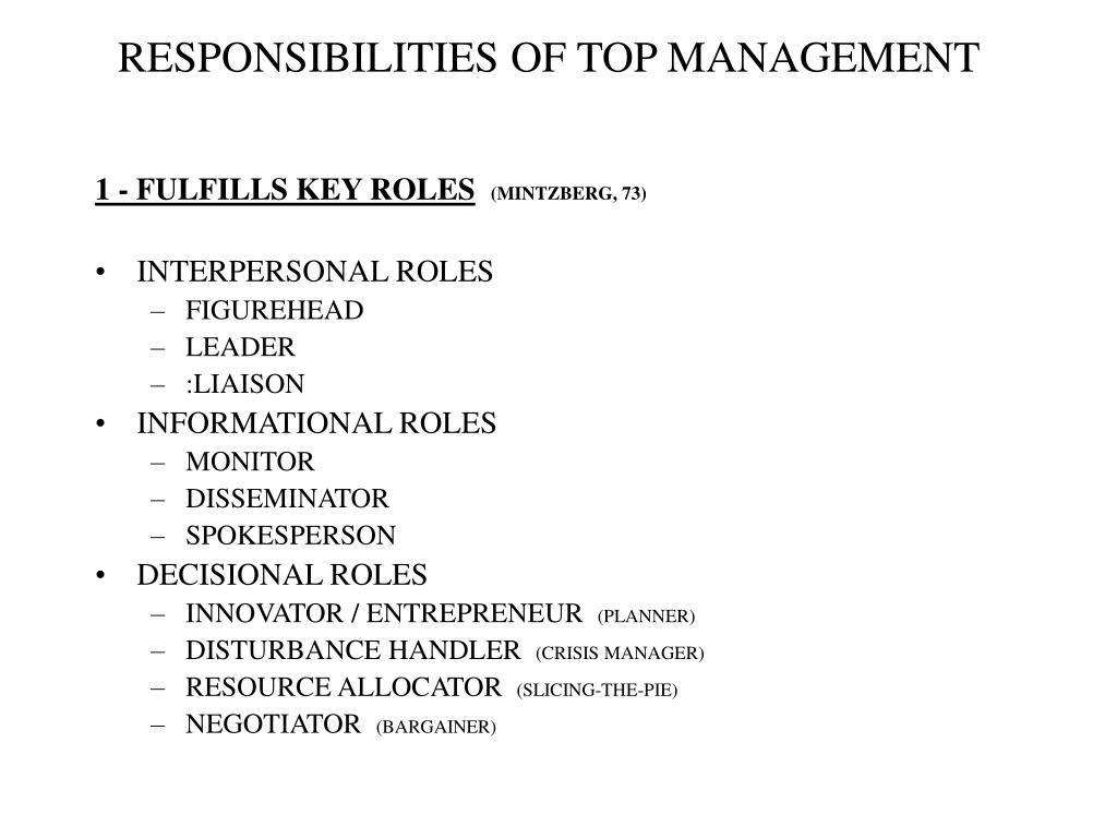 interpersonal informational and decisional roles of managers