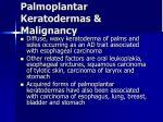 palmoplantar keratodermas malignancy