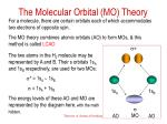 the molecular orbital mo theory