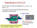 triple bonds in h c c h