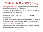 why molecular orbital mo theory