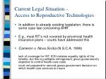 current legal situation access to reproductive technologies