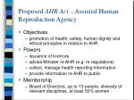 proposed ahr act assisted human reproduction agency