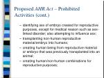 proposed ahr act prohibited activities cont