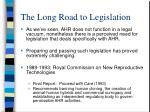 the long road to legislation