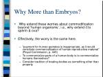 why more than embryos