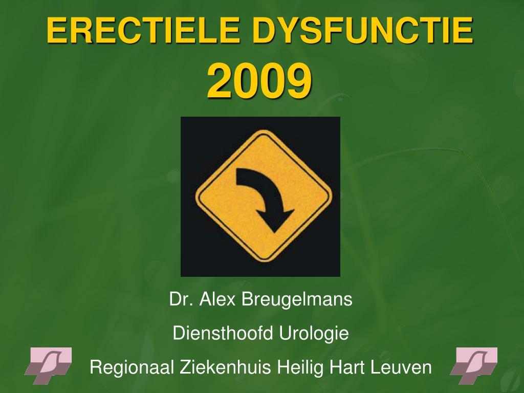 erectiele dysfunctie 2009 l.