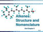 alkenes structure and nomenclature
