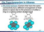 cis trans isomerism in alkenes